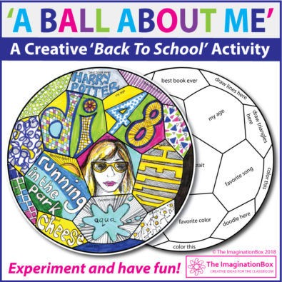 All About Me Soccer Ball Art Activity